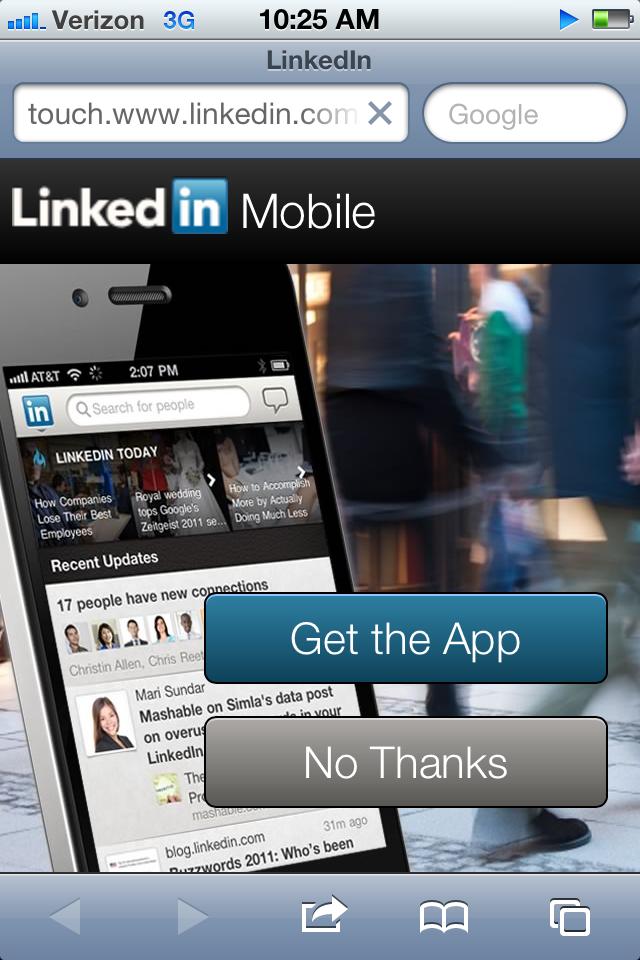 LinkedIn Splash Screen